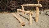 robinia hout palen kopen klimbalken openbaar gebruik 3-delig 5-delig