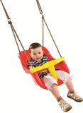 Babyschommel Luxe Premium Rood-Geel met PP Touwen _