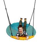 PP touwen Turquoise/gele nest schommel 101cm