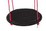 Nestschommel met kussen Ø90cm Zwart-rood