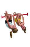 duikelstang 125cm rood met kinderen