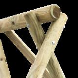 rondhout schommel 4 haken constructie