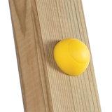 Afdekdop voor Bouten en Moeren Geel op paal hout