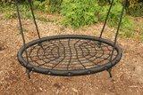 Nestschommel Zwart Ø120cm PP touwen