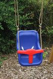 Babyschommel Luxe Premium Blauw/Rood met PP Touwen _