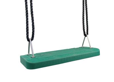 Schommelzitje Rubber Premium groen met Pp touwen