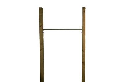 RVS Duikelstang 80, 90, 100, 120, 125, 135 en 150 cm met verduurzaamde palen