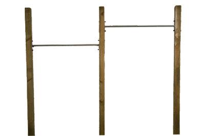 RVS Duikelstang 80, 90, 100, 120, 125, 135 en 150 cm met verduurzaamde palen Duo