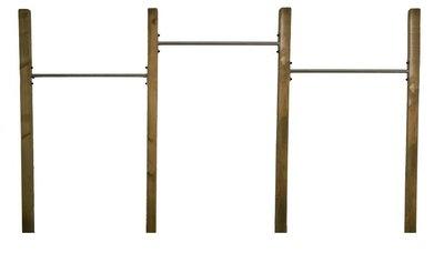 RVS Duikelstang 80, 90, 100, 120, 125, 135 en 150 cm met verduurzaamde palen Trio