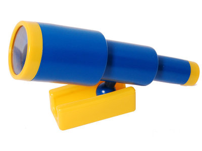 Telescoop Kunststof Blauw / Geel schuifbaar