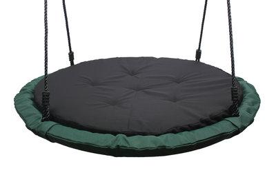 Nestschommel Comfort Groen met Kussen Ø100 cm PP touwen Premium