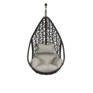 Hangstoel Mona relax Zwart zonder standaard (Grey Edition)