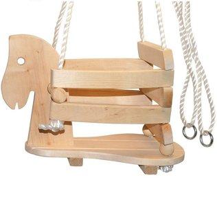 Schommel Baby Hout.Babyschommel Houten Paard De Bruine Schommels