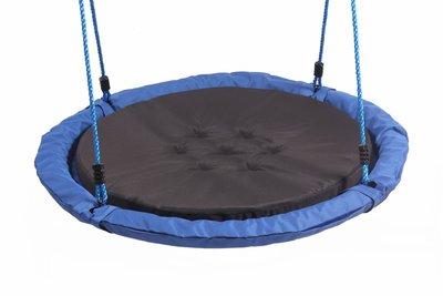 Nestschommel Comfort Blauw met Zwart Kussen