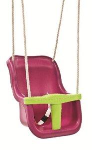 Babyschommel Luxe Premium Paars/Limoen Groen met PP Touwen