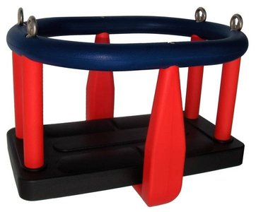 Babyzitje Rubber Premium Zwart rood blauw