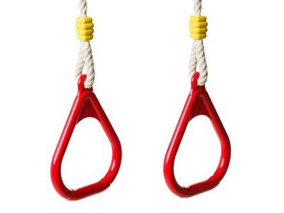 Kunststof Plastic Turnringen Rood PH Touw turn ringen schommel touwen