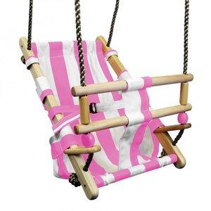 Babyzitje Beach Roze/Wit Premium