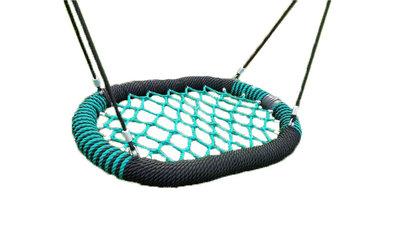 Nestschommel Ovaal Pro Zwart-Groen Openbaar 120 cm