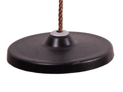 Schotelschommel Rubber Zwart met PP touw