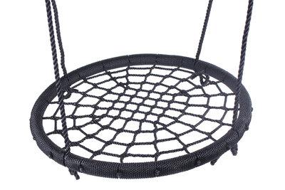 nestschommel 120cm zwart