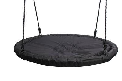 Nestschommel Comfort Zwart met Kussen Ø100 cm PP touwen