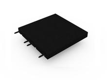 Rubberen Tegel 50x50x4,5cm Zwart met Pen/Gatverbinding